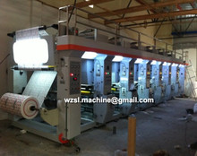 Best plastic film production high speed computer Control roll to roll paper roto gravure printing machine