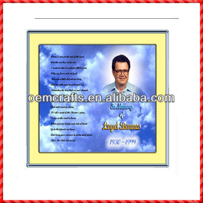 New designed commemorative way of photo frames for funeral decoration