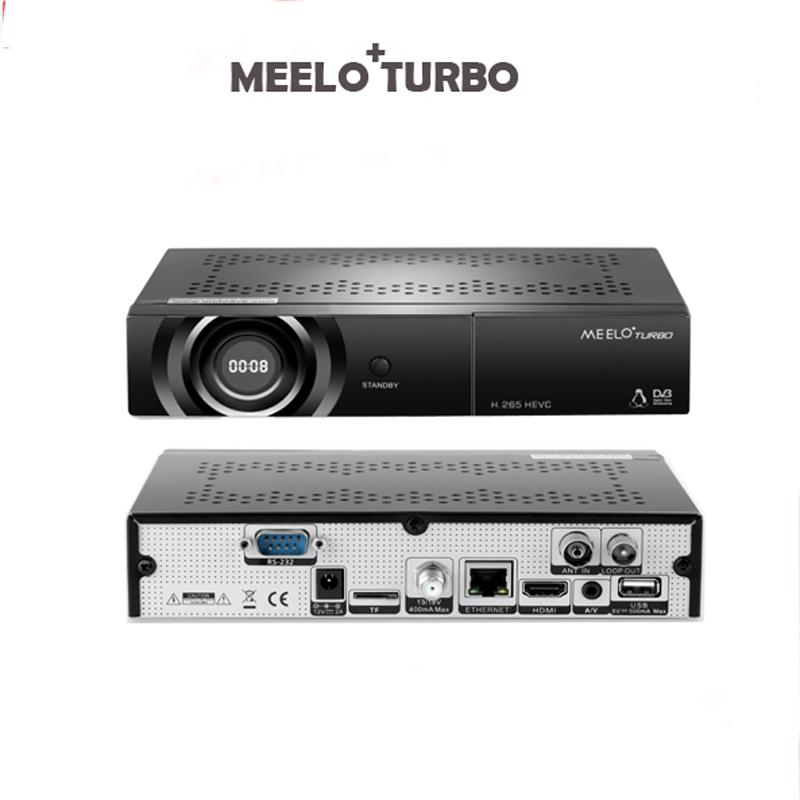 MEELO+ TURBO Enigma2 LINUX OS DVB-S2/T2/C TUNER AVS+ linux IPTV BCM 73625 Satellite Receiver 7 Segment - 4 Digits Display