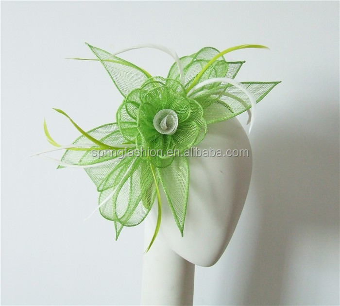 Lime green sinamay fascinator/party fascinator/pefect quality fascinator