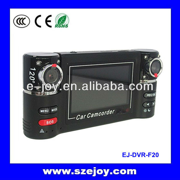 Hot sale!USB car camcorder,video registrator with 2.7 inch big display screen 720p&EJ-DVR F20