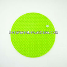 2013 novelty heat resistant round pot pads silicon kitchen hot pot pad