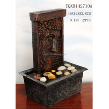 Wholesale Resin Water Fountain Buddha Face Fountain