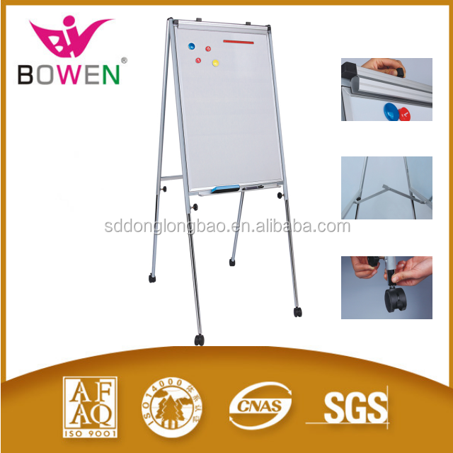 magnetic whiteboard flip chart aluminum frame white board clip paper can customize with stand