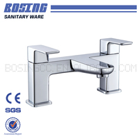 Cheap Price Dual Handle Double Hole Brass Material Chrome Surface Bathtub Faucet