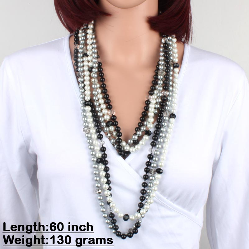 Hot Selling Mix Colors Variety Pearl Chunky Delicate Occident Necklace For Women