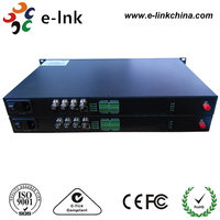 Support 4U rack mount 3G-SDI Video Fiber Optic Transmitter/Receiver