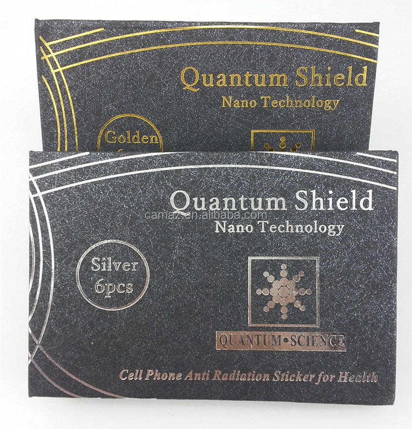 Quantum science scalar quantum shield in golden & silver color