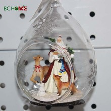 2015 personalized christmas clear glass craft ball ornaments