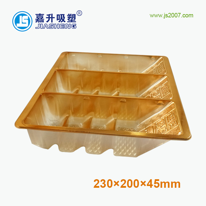 high quality Gold Plastic vacuum forming tray for biscuits insert