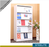 Office white book shelf cupboards/library vertical magazine display rack/newspaper display rack stand cabinet shelf