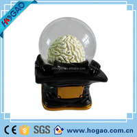 glass resin globe insert golf custom snow globe manufacturers