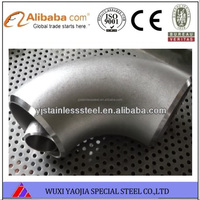Manufacturer Supply 304L Grade Butt Welded Seamless Stainless Steel Elbow