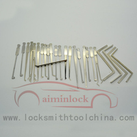 High Quality Stainless Steel Car Lock Pick Set With LED Light AML020161