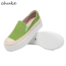 Grass Weaving Personal Women Flat Platform Bottom Shoes Mixed Color Casual Slip On Flat Loafers Shoes Round Toe Student Shoes