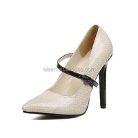 Latest fashion sexy snake skin high heel shoes