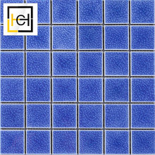 Wholesale Cheap Japanese Non-Slip Discontinued Ceramic Swiming Pool Tile Price Size Ocean Blue Mosaic Swimming pool Tiles mosaic