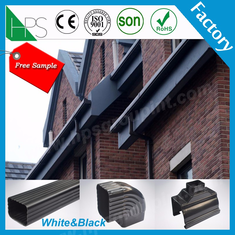 Plastic PVC rainwater gutter Drainage system factory price 2 colours