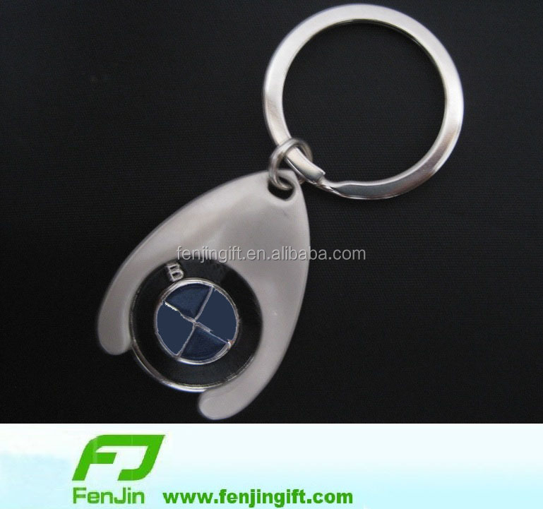New design custom shape promotional metal keychain