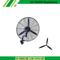 Industrial Wall Fan 650MM 100% Copper Wire Motor For Workshop