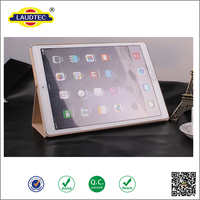 "3 Folder Flip stand smart leather case cover with sleep & week function for IPad Pro 12.9"" -----Laudtec"