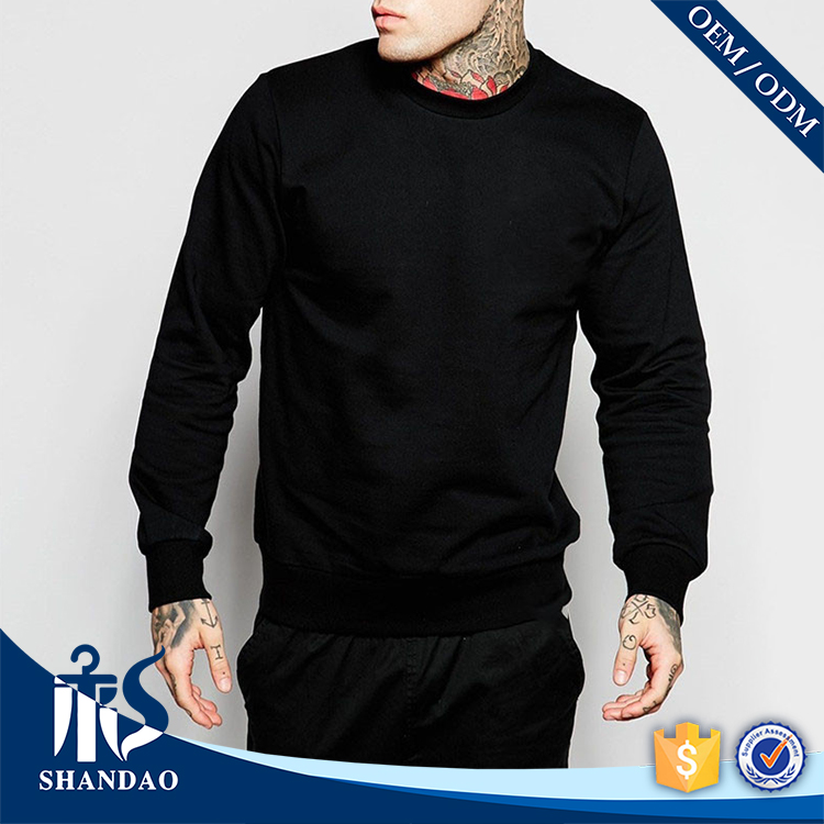Guangzhou Shandao OEM Design High Quality Blank Long Sleeve Pullover longline hoodie men
