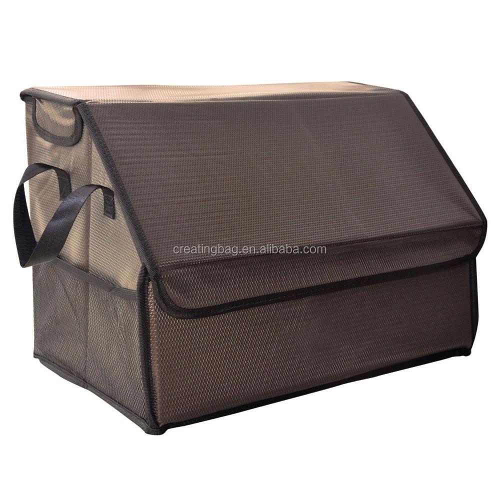 Khaki Color Car Trunk Storage Folding Cargo Organizer Multipurpose Foldable  Cargo Storage Container Box Bag Case With Cover   Buy Khaki Color Car Trunk  ...
