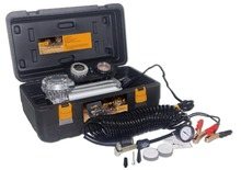 High performance tire inflator with dual battery clamps