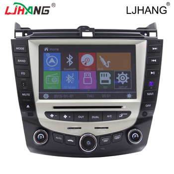 in-dash car dvd gps navigation player for hon da 07 ac cord with steering wheel