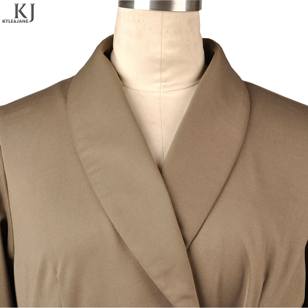 2018 Khaki hot sale islamic attire abaya plain color kaftan long sleeves full length female maxi abaya
