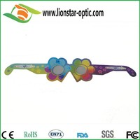 Durable paper cardboard diffraction 3d glasses for firewrks show with low price