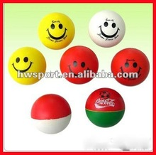 Promotional Round Shape Imprint pu foam stress ball