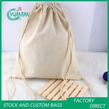 Promotional Custom Printed Round Bottom Cotton Canvas Rice Bag Pouch