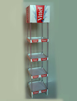 vittel water plastic display stand / stand display