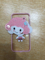 Clear crystal TPU+PC cute cartoon patterns back cover case for iphone 6 6S plus