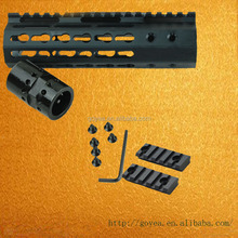 Keymod 7 inch slim handguard One Piece Free Float Rifle Style (with steel barrel nut)