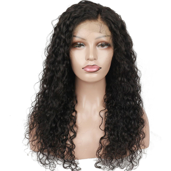 Black Woman 7a Brazilian 180% Density Curly Human Hair Lace Front Wig