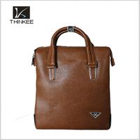 High end genuine leather hard briefcase,business handy portable laptop bag