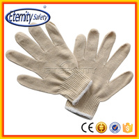 Poly cotton knit driving glove work gloves PVC dotted
