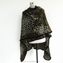 2017 Sexy Lady leopard scarves animal print knitted scarf arabic shawl