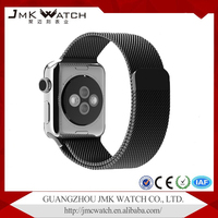 Newest popular products metal adapter black stainless steel magnetic milanese loop apple watch band strap