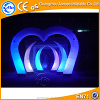 Heart shape wedding inflatable arches for sale/cheap inflatable arch for sale