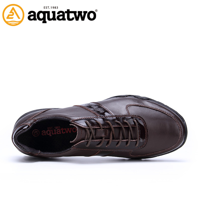 China manufacturer Aquatwo design men leather shoes with high quality