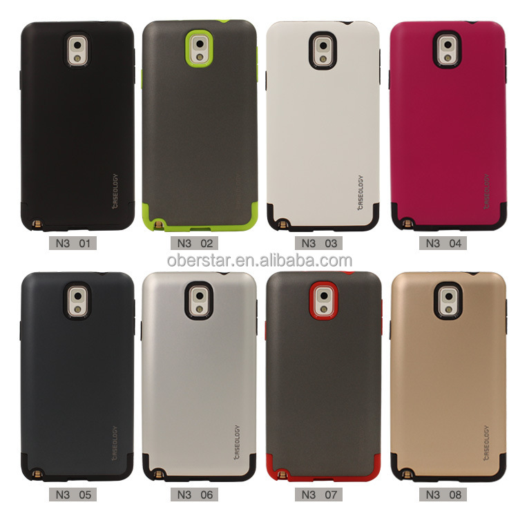 Unique Shockproof Cell Phone TPU+PC Bumper Frame Case for Samsung Galaxy Note 3 Cover