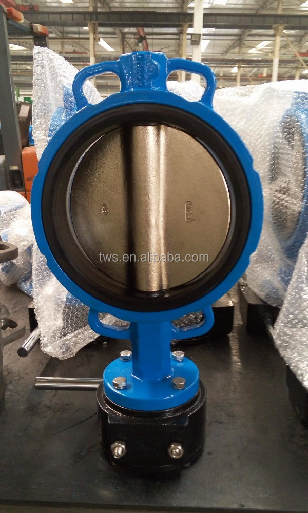 8 Inch DN200 A216 WCB Disc Wafer Butterfly valve with Gearbox and Handwheel Universal Flange
