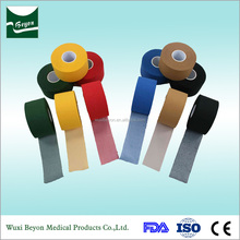 Various colors high quality 100% cotton sports tape made in china