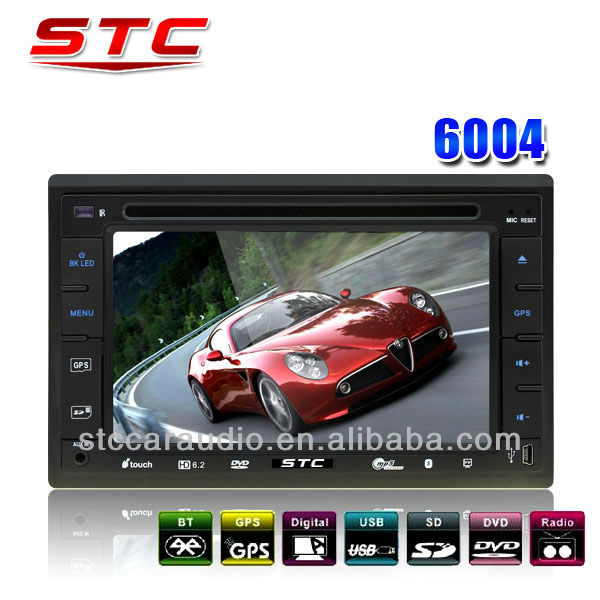 Cheap DVD Car Audio Navigation System With 6.2 Inch TFT Touch Screen