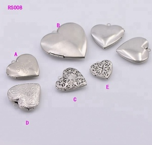 Factory Cheap Eco-friendly Heart Shape Charms Stainless Steel Photo Frame Kids Pendant
