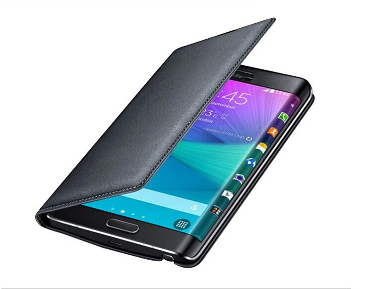 Wallet Leather Cover Flip <strong>Case</strong> For Samsung Galaxy Note Edge N9150 With Original Battery Housing