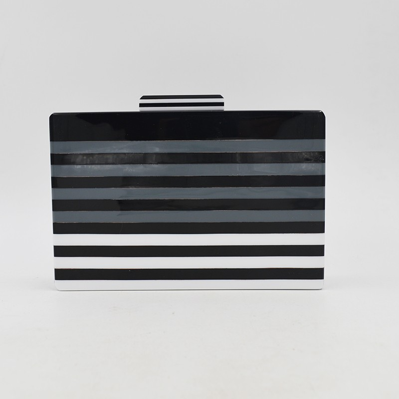 Wholesale Trendy Design With Striping Clutch Bag Ladies Purse Evening Handbags